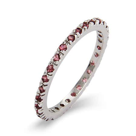 Dainty Alexandrite CZ Stackable Eternity Band