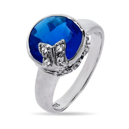 Blue CZ Butterfly Ring | Eve's Addiction