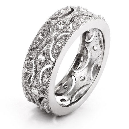 Exquisite Victorian Style Wedding Band