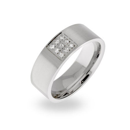Engravable Men's Comfort Fit Stainless Steel Band | Eve's Addiction