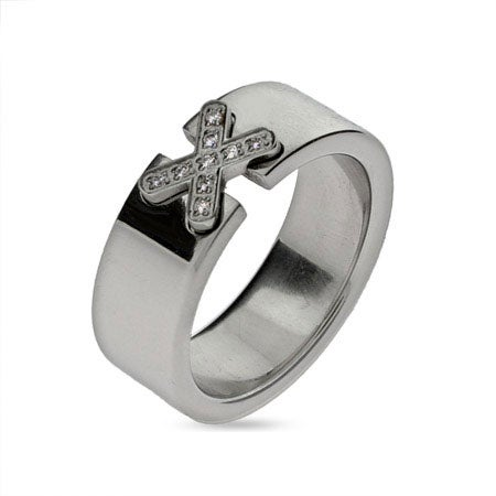 Sparking Cz X Engravable Message Ring | Eve's Addiction®