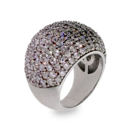 Glamorous Pave CZ Cocktail Ring | Eve's Addiction