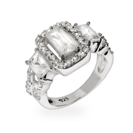 Elegant Celebrity Style Past, Present & Future CZ Engagement Ring | Eve's Addiction®