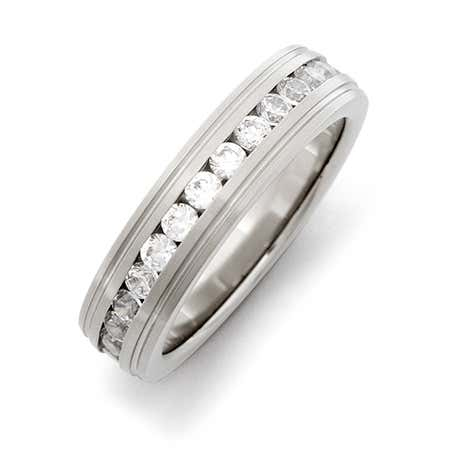 Stainless Steel CZ Eternity Band | Eve's Addiction®