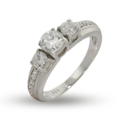 Past, Present and Future 3 Stone CZ Engagement Ring | Eve's Addiction®