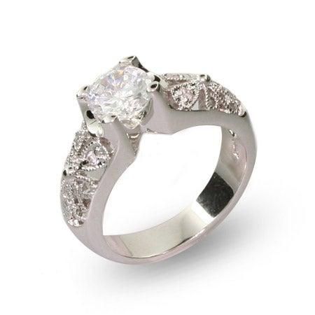 1.25 Carat Vintage Style CZ Engagement Ring | Eve's Addiction®