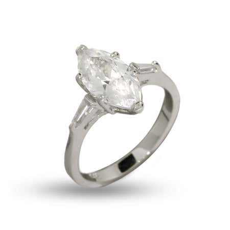 1.5 Carat Marquise Cut CZ Engagement Ring | Eve's Addiction®