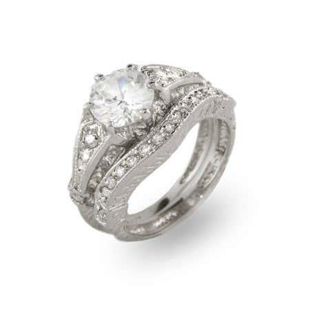 Inspired Vintage Wedding Ring Set