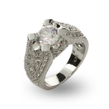 Exquisite Victorian 2 Carat CZ Right Hand Ring | Eve's Addiction®