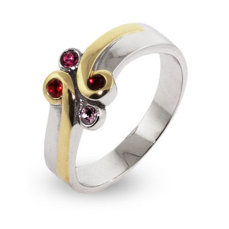 Sterling Silver & Gold Vermeil Birthstone Mothers Ring | Eve's Addiction®