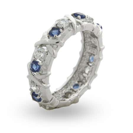 display slide 1 of 1 - Designer Style Sapphire CZ Sixteen X Stone Ring  - selected slide
