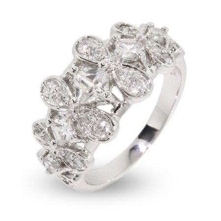 Sparkling Elegant Design CZ Sterling Silver Ring | Eve's Addiction®