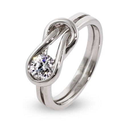 Sterling Silver Love Knot Ring | Eve's Addiction®