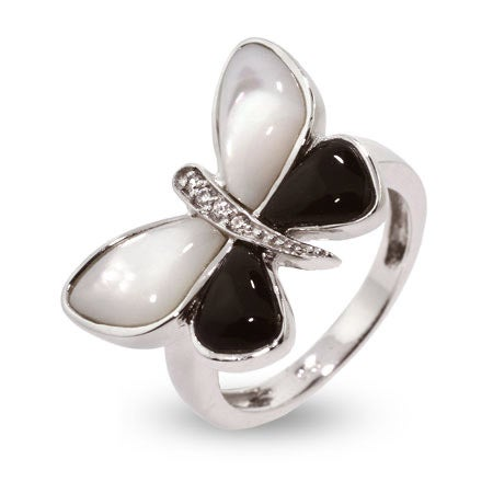 Mother of Pearl Butterfly Ring | Eve's Addiction®