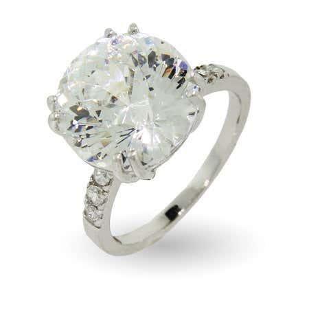 6 Carat Millennium Cut CZ Right Hand Ring | Eve's Addiction®