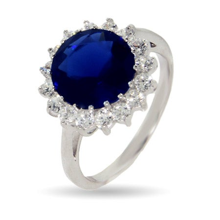 Royalty Inspired Round Sapphire CZ Engagement Ring | Eve's Addiction®