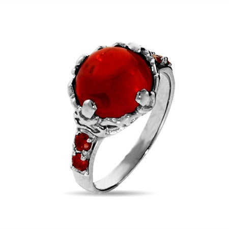 Magical Red Crystal Sterling Silver Ring | Eve's Addiction®