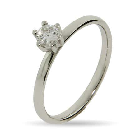 Brilliant Cut CZ Stackable Ring