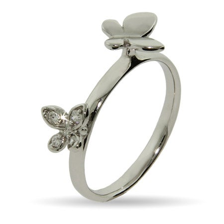 Double Butterflies Stackable Ring | Eve's Addiction®