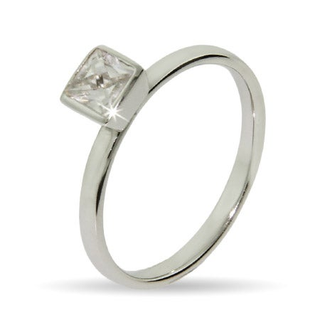 Princess Cut CZ Stackable Ring | Eve's Addiction®