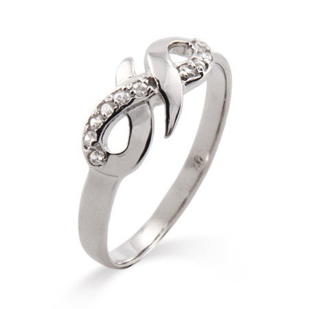 CZ Infinity Ring in Sterling Silver   Eve's Addiction®
