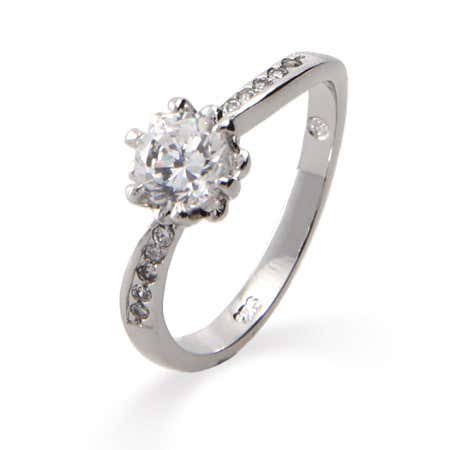 Classic Round Cut CZ Promise Ring | Eve's Addiction®