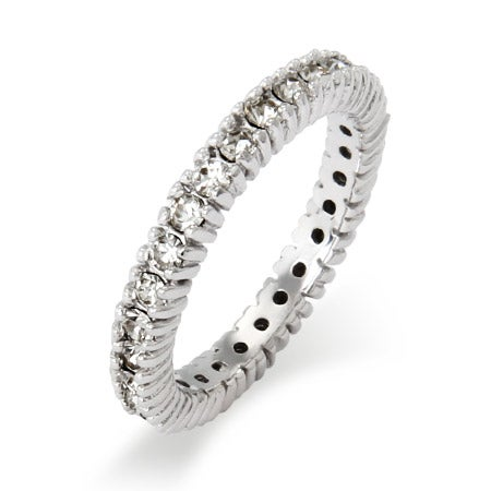 Sparkling April Birthstone Stackable Ring | Eve's Addiction®