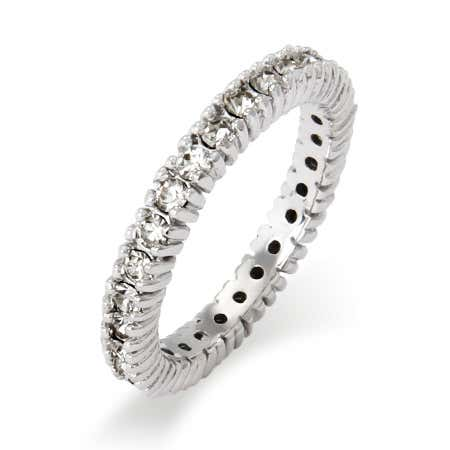 Sparkling April Birthstone Stackable Ring