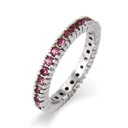 Sparkling June Birthstone Stackable Ring