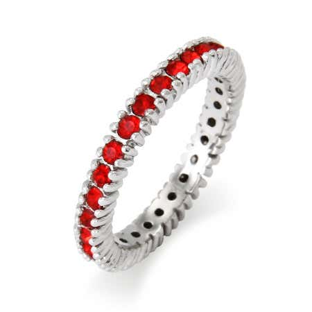Sparkling July Birthstone Stackable Ring | Eve's Addiction®
