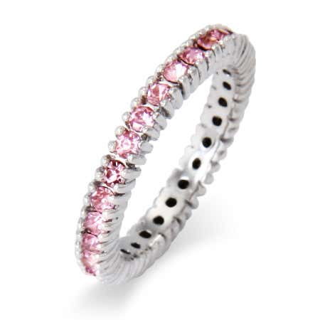 Sparkling October Birthstone Stackable Ring