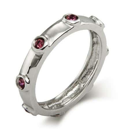 June Birthstone Bezeled Ring | Eve's Addiction®