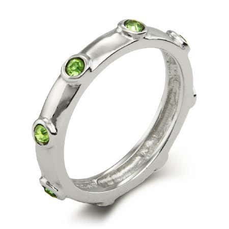 Peridot August Birthstone Ring