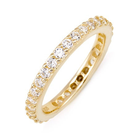 Brilliant Cut CZ Gold Vermeil Eternity Band | Eve's Addiction®