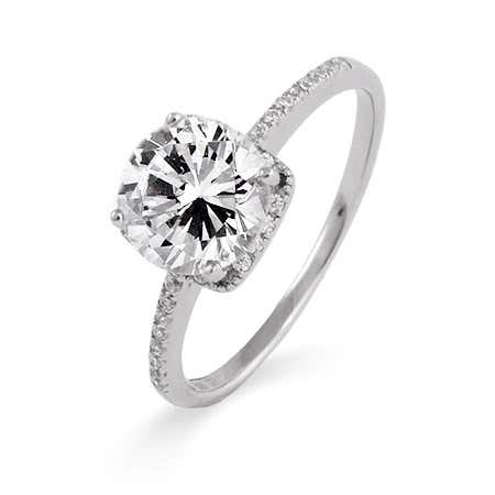 2 Carat Brilliant Cut CZ Engagement Ring