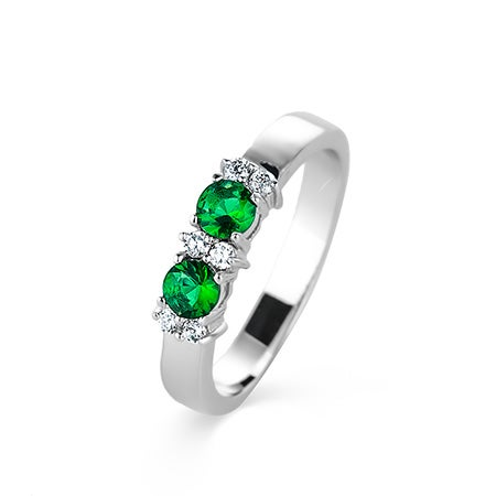 2 Stone Birthstone Engravable Eternity Band | Eve's Addiction®