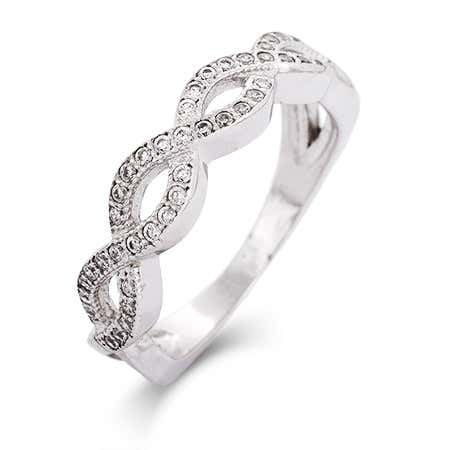 Sterling Silver CZ Infinity Band