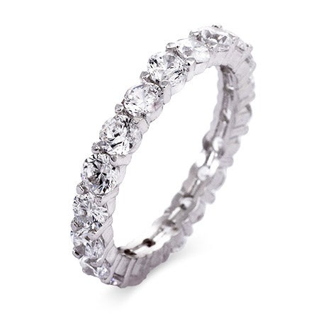 Brillant Cut CZ Stackable Eternity Band | Eve's Addiction®