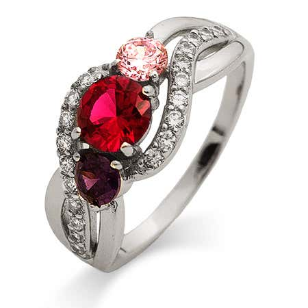 custom 3 stone birthstone ring online from eves addiction valentines jewelry