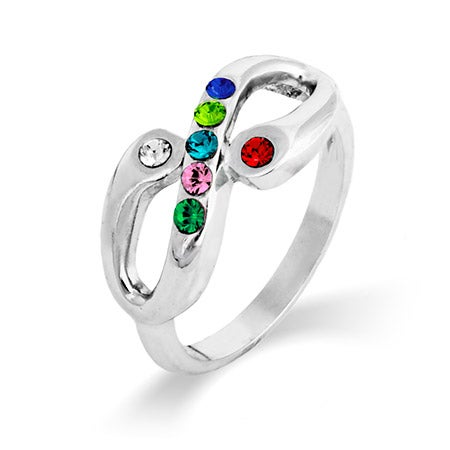 Adam and Eve 7 Stone Infinity Family Birthstone Ring | Eve's Addiction®