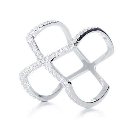 Double X CZ Ring - It Ring | Eve's Addiction®
