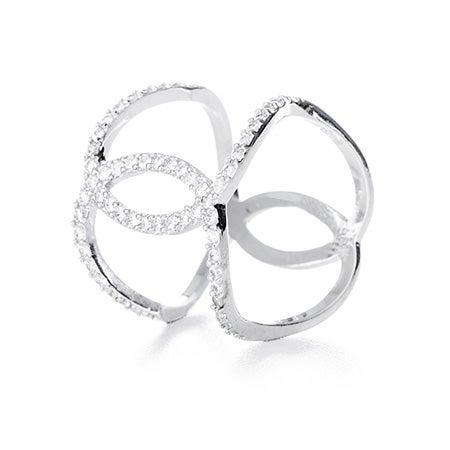 Interlocking Curve CZ Double Band | Eve's Addiction®