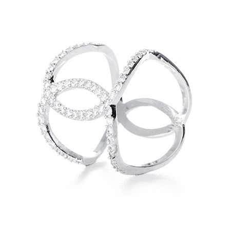 Interlocking Curve CZ Double Band