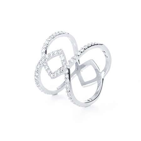 Interlocking CZ Double Band | Eve's Addiction®