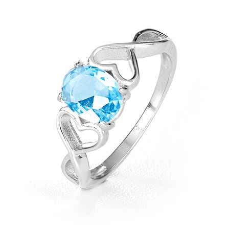 Double Heart Infinity Oval Birthstone Ring | Eve's Addiction®