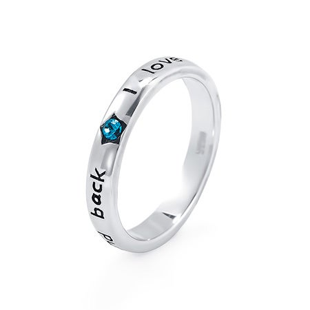 I Love You To The Moon and Back Thin Birthstone Band | Eve's Addiction®