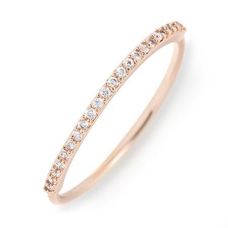 Rose Gold gorjana Shimmer Bar Ring