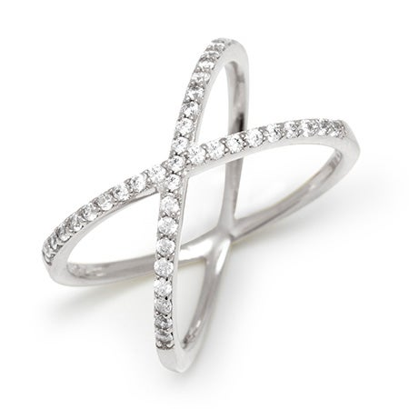 .925 Sterling Silver Criss Cross Ring | Eve's Addiction