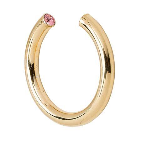 Stella Valle Gold October Cubic Zircon Birthstone Cuff Ring