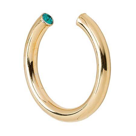 Stella Valle Gold December Cubic Zircon Birthstone Cuff Ring